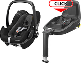 Автокресло Maxi-Cosi Pebble Plus + База FamilyFix One i-Size